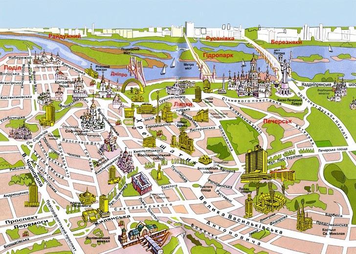 Туристична карта Києва
