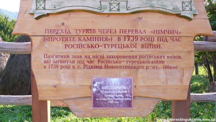 Інформація про пам'ятний знак у с. Рідківці
