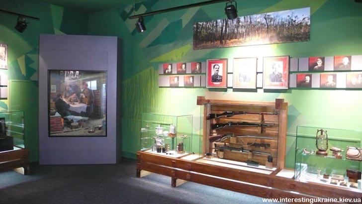 Музей партизанської слави. Експозиція в одному із залів