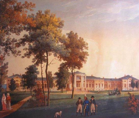 Таким був палац Розумовського у Яготині (з картини Лазарєва П.Є., 1807 р.)