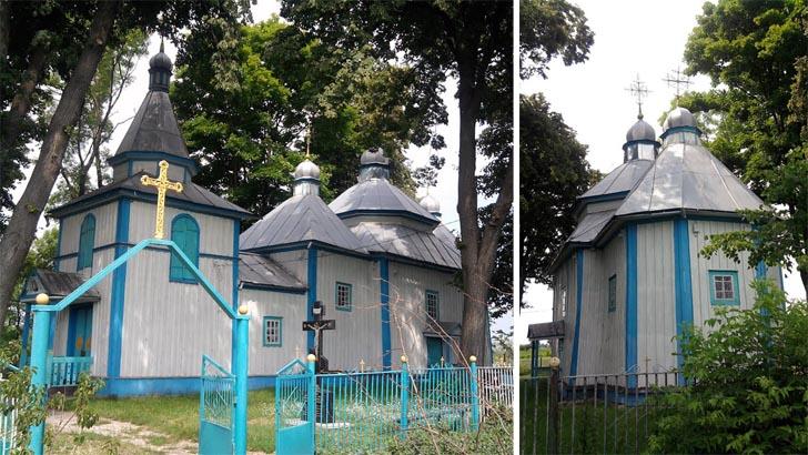 Дерев'яна церква - пам'ятка с. Кам'яний Брід Житомирської області