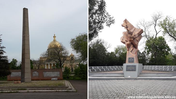 Пам'ятники радянським воїнам у Болграді