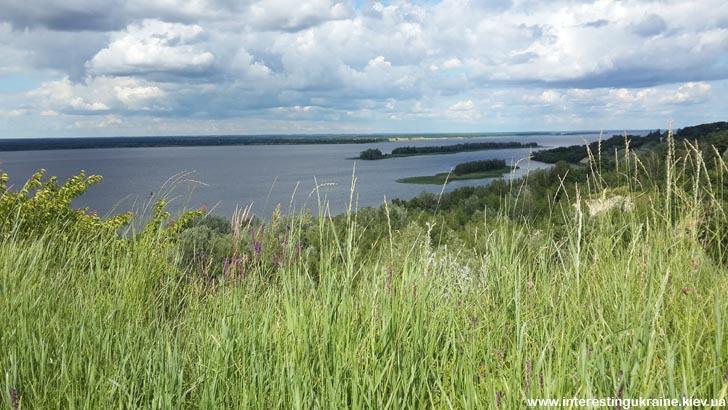 Панорама Дніпра з Іван-гори, м. Ржищів